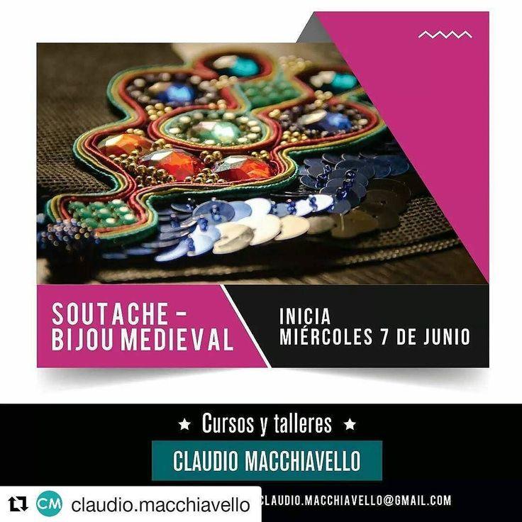 #Repost @claudio.macchiavello (@get_repost)   Apurate a reservar tu lugar!  Inicia: 7 de junio // Cursada: Miércoles de 10 a 12 hs. Duración 3 meses - Arancel $ 700 mensuales.  Visitá nuestro blog y conocé todos los cursos y talleres. http://ift.tt/2s51K1f ____  INFO: Tel: 4342.3179 / email: claudio.macchiavello@gmail.com #curso #taller #bijou #medieval