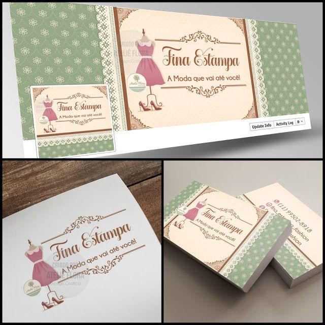 Criação de Logotipo Moda Feminina - Boutique / Capa para Facebook Moda Feminina - Boutique / Cartão de Visitas Moda Feminina - Boutique / Tag Moda Feminina - Boutique