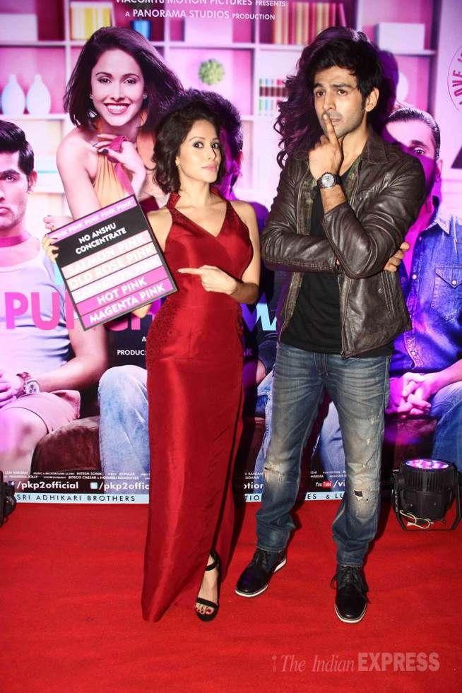 Kartik Aaryan and Nushrat Bharucha at the 'Pyaar Ka Punchnama 2' success bash. #Bollywood #Fashion #Style #Beauty #Hot #Sexy
