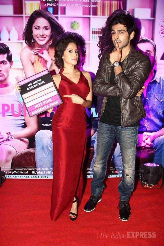 Kartik Aaryan and Nushrat Bharucha at the 'Pyaar Ka Punchnama 2' success bash. #Bollywood #Fashion #Style #Beauty #Hot #Sexy