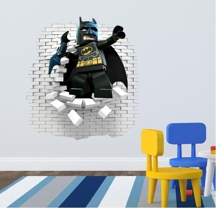 3D Lego Batman Wall decal great for the kids room. by ArtogText on Etsy