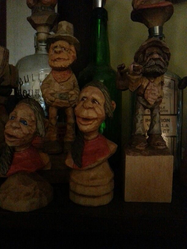 Miscellaneous carved caricature busts pinterest
