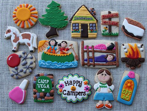 Camp Vega Cookies   These are for a sweet girl at a summer c…   Flickr