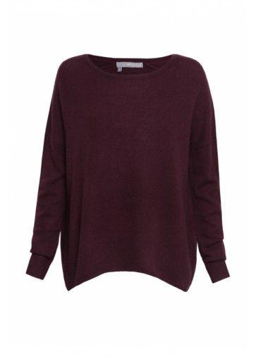 360 Sweater Andi Cashmere Knit - Claret