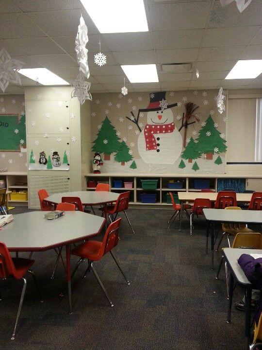 Winter Wonderland Classroom Decorations ~ My classroom s winter wonderland boards