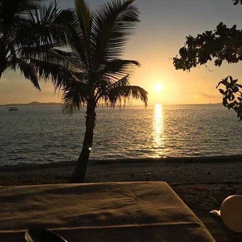 Beautiful Treasure Island Fiji sunset