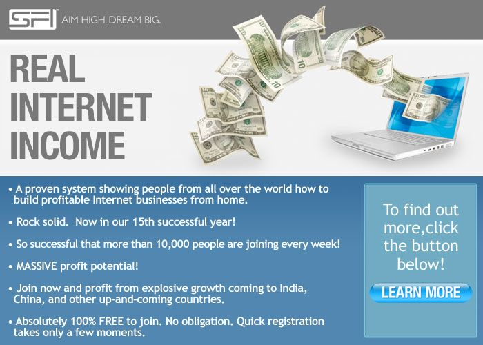 Real Internet Income. Start for Free.