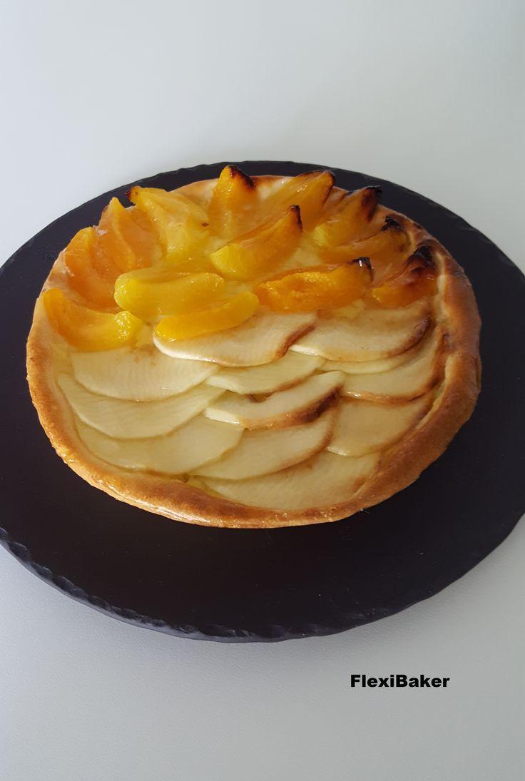 Appel-Abrikoos taart / Apple-Apricot pie #spermalie