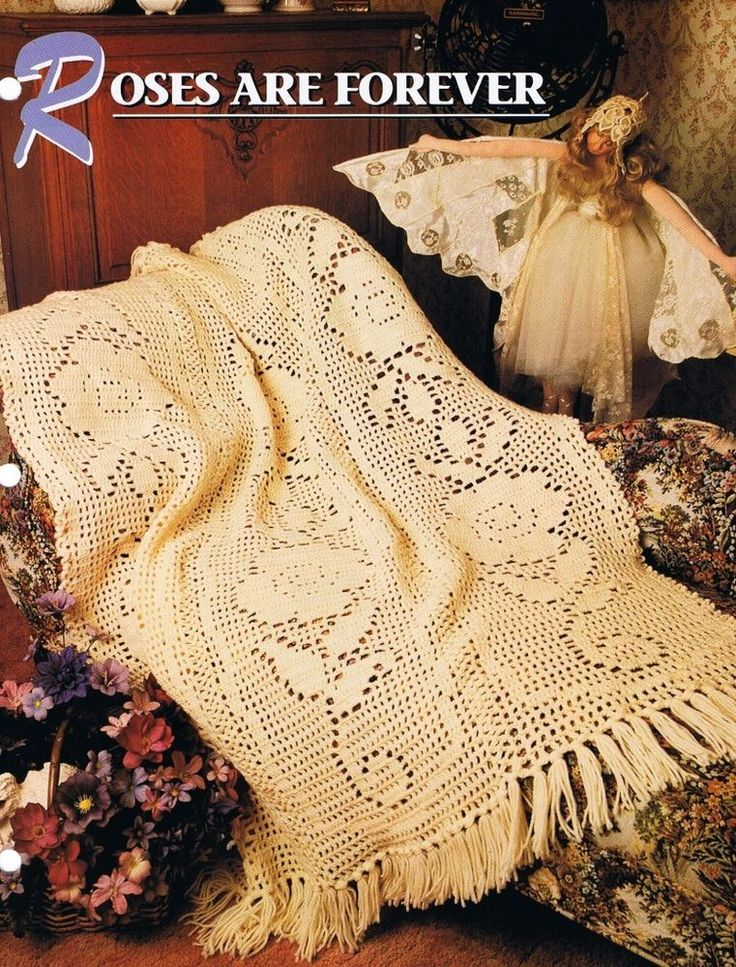 389 best crochet patterns images on pinterest afghan crochet roses are forever annies attic crochet afghan pattern instructions dt1010fo