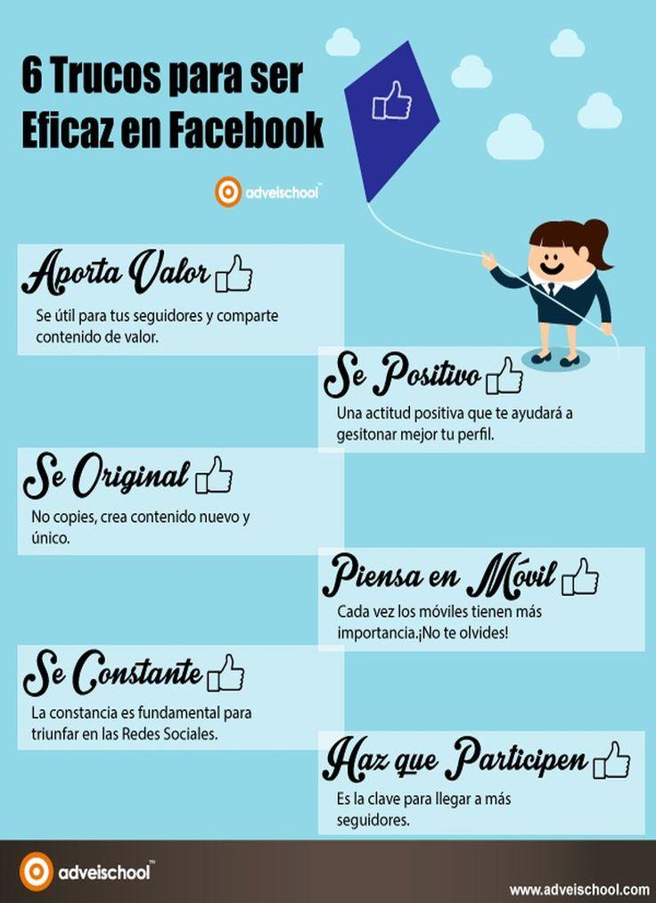 6 simples trucos para ser más eficaz en la red social Facebook (infografía)