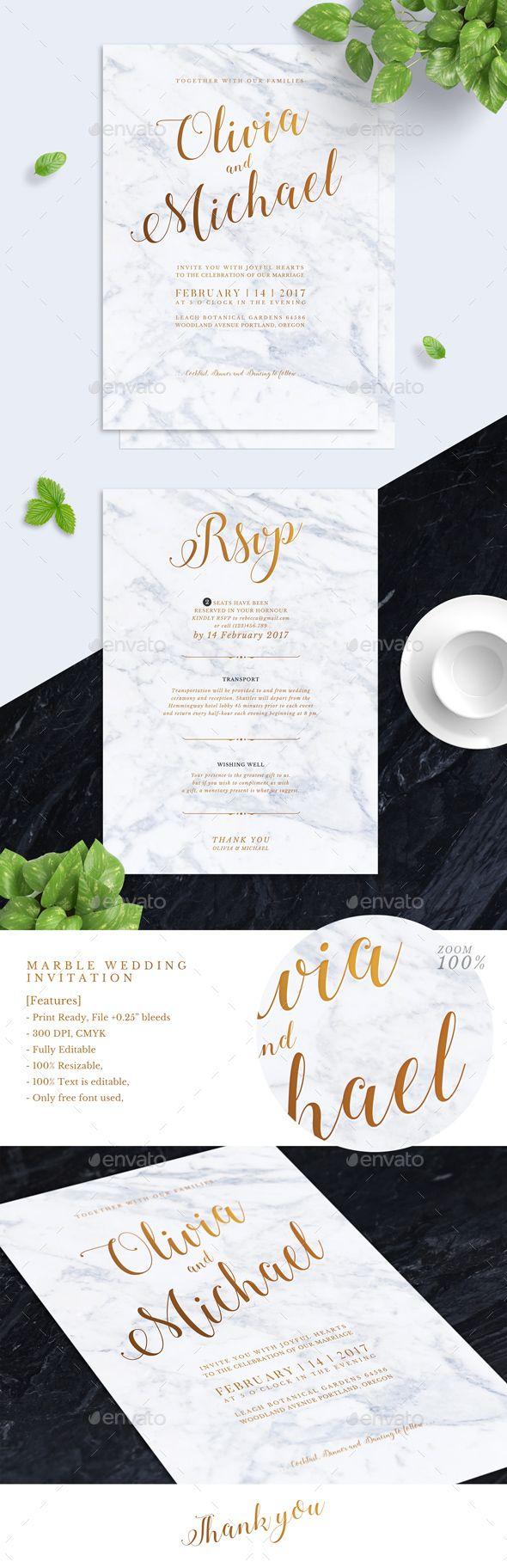 Marbel Wedding Invitation — Photoshop PSD #foil #marriage • Download ➝ https://graphicriver.net/item/marbel-wedding-invitation/18933489?ref=pxcr