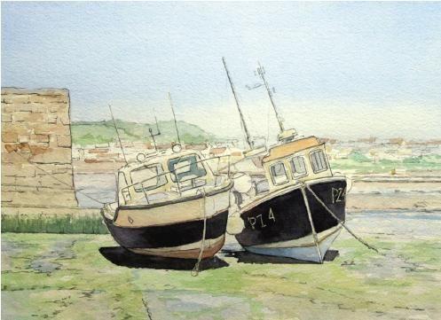 Paint a harbour scene
