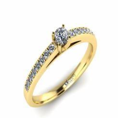 Inel de logodna ATCOM Lux cu diamante MAGNUS aur galben  Lasa-te rapit de sclipirile diamantine, diafane...!