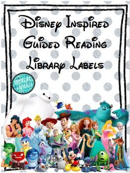 TPT FREEBIE! Super cute for library or word wall in a Disney Classroom!!!