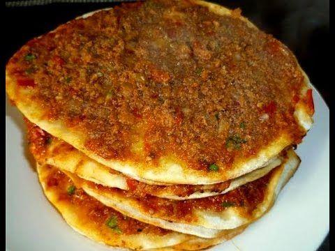 Türkische Pizza-Türkische Rezepte- Ev yapimi Lahmacun tarifi - YouTube