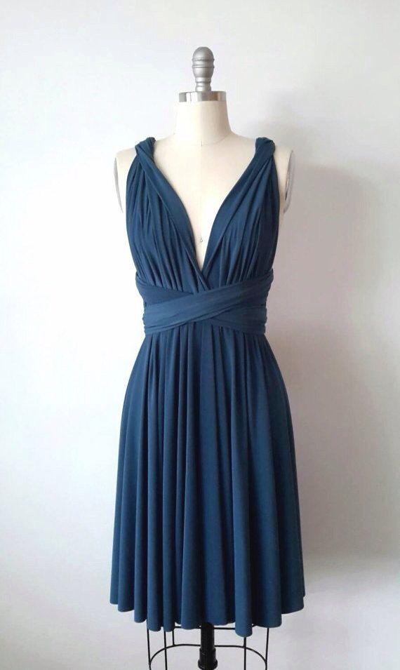 Blaugrün kurz Infinity Kleid Cabrio formale von AtomAttire auf Etsy