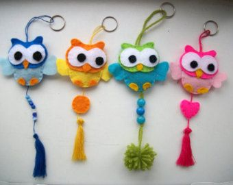 owls keyrings