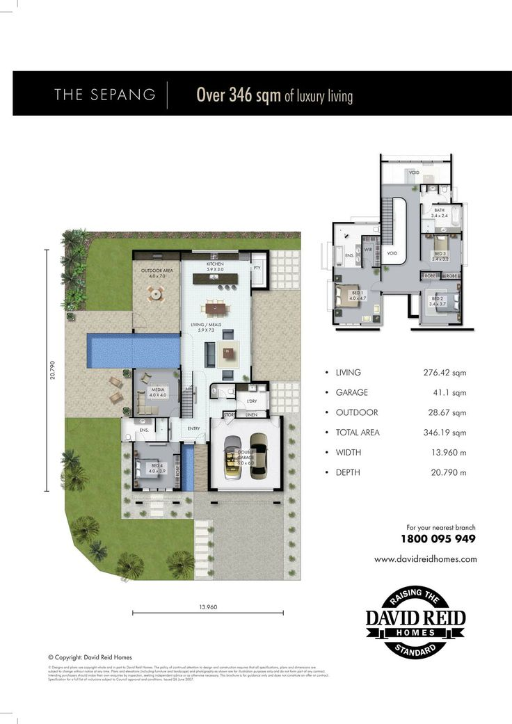 The Sepang Floor Plan - Concept Range.  David Reid Homes Australia, Luxury Custom Home Builder. Click here to contact us for a chat about your new home http://davidreidhomes.com.au/contact-con.php