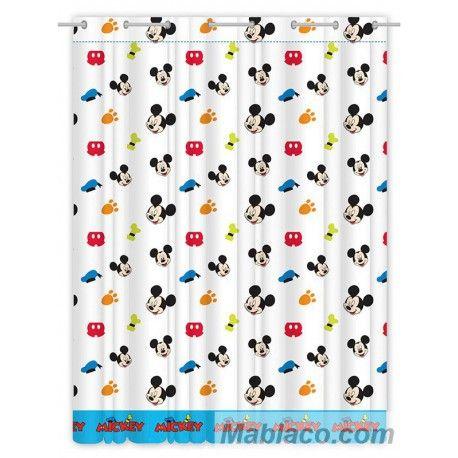 Cortinas Mickey Mouse Colors de la licencia Disney, le ofrecemos cortinas confeccionadas con ojales,modelo Colors de la licencia Disney
