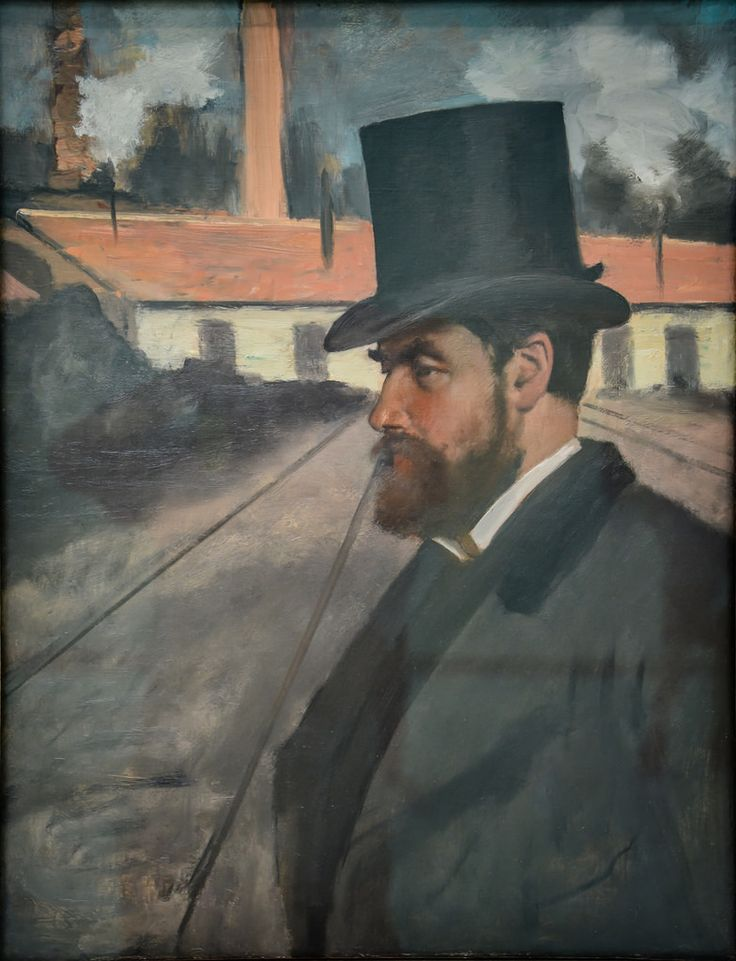 Edgar Degas - Henri Rouart in front of His Factory, 1875 at Carnegie Museum of Art - Pittsburgh PA