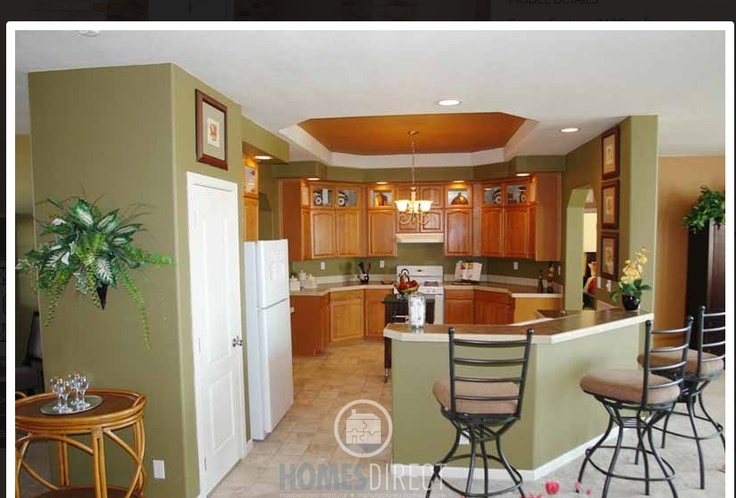 Model home dream room green sage kitchen i want to live for Green paint for kitchen walls