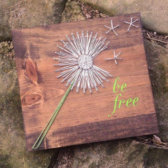 Dandelion String Art - DIY or Etsy  Great idea for a memorial or other keepsake.