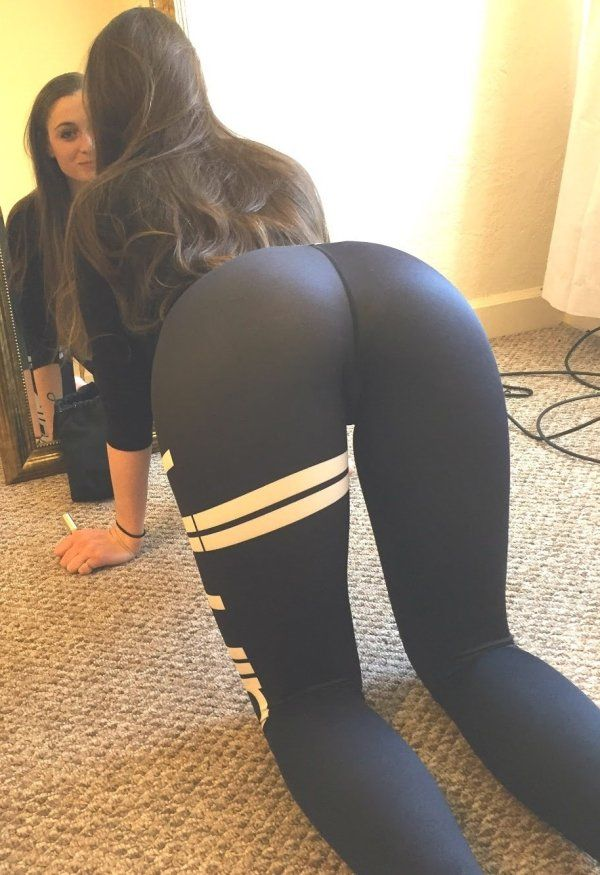 I would love to shoot a hot load all over that booty. Almost as good as  yours Marissa. Tight Leggings 15691952562a4