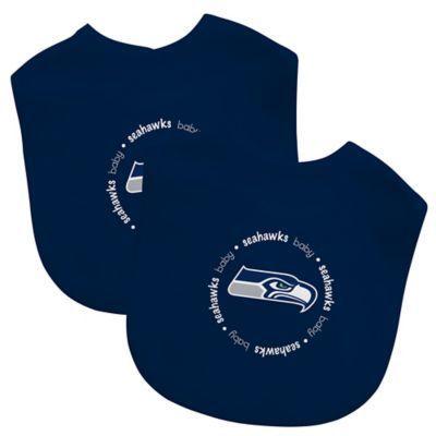 Baby Fanatic NFL Seattle Seahawks 2-Pack Bibs in Lime Green