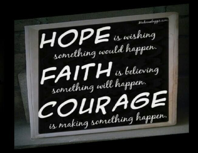 Hope, Faith, Courage #quote