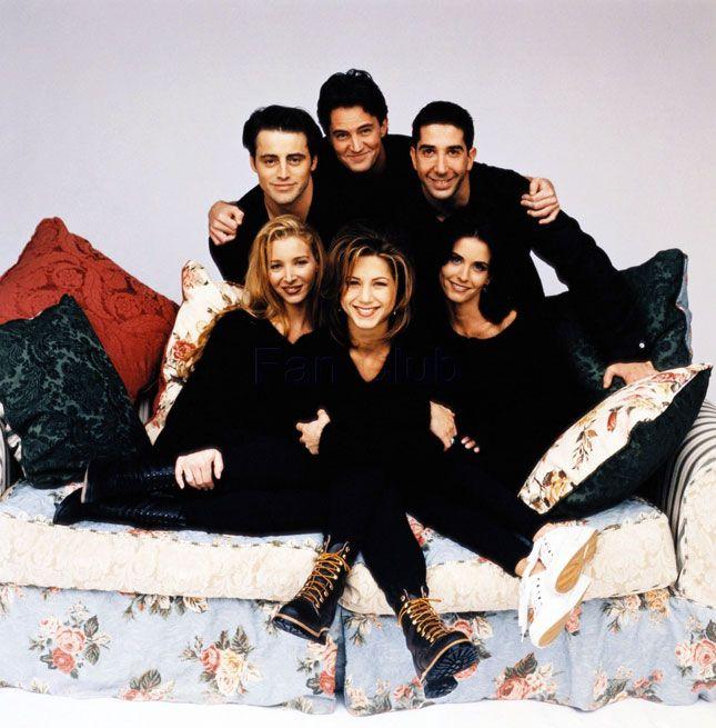 "10 Years Later, the 10 Weirdest ""Friends"" Cast Photos Ever via Brit + Co"