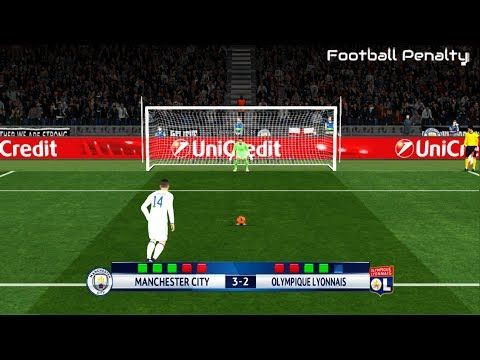 Manchester City vs Olympique Lyon | UEFA Champions League | Penalty Shoo...