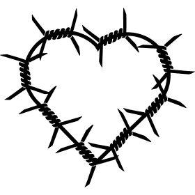 Stacheldraht Herz - Ein Herz aus Stacheldraht.