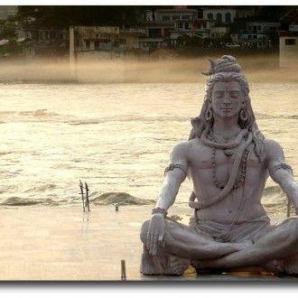 Shiva at the water's edge