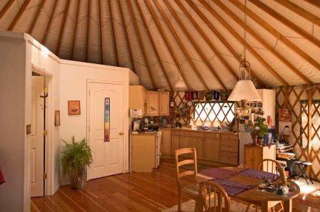 Yurt interior: Google Image Result for http://yurtinfo.org/images/faq24.jpg