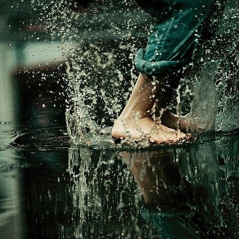 happiness = splashing in puddles ♥