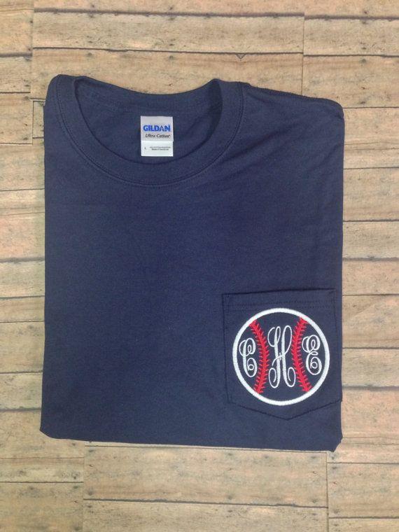Baseball monogram SHORT SLEEVE t shirt by christylous on Etsy, $20.00 Ashlyn's bday present :)))