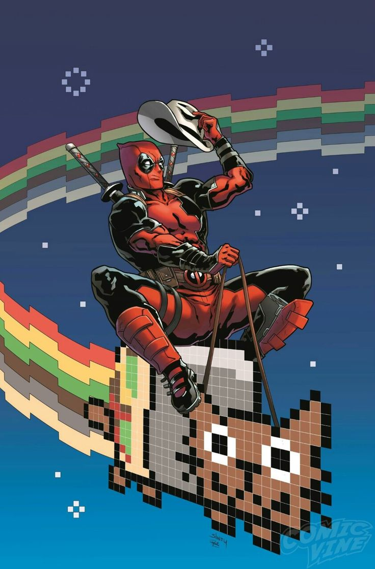 Guardians of the Galaxy #4 Deadpool variant cover by Will Sliney *