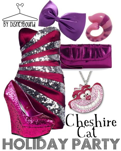 Disney Bound Cheshire Cat Holiday Party Alice In Wonderland: Holidays Parties, Disney Outfits, Cheshire Cat, Fashion Style, Alice In Wonderland, Disney Bound, The Dresses, Cheshirecat, Disney Fashion