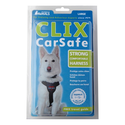 The CLIX CarSafe harness has been developed to provide safety and comfort for your dog, both in the car and whilst walking. Soft neoprene padding covers all points of contact to ensure maximum protection and comfort, with particular focus on the central chest protector.