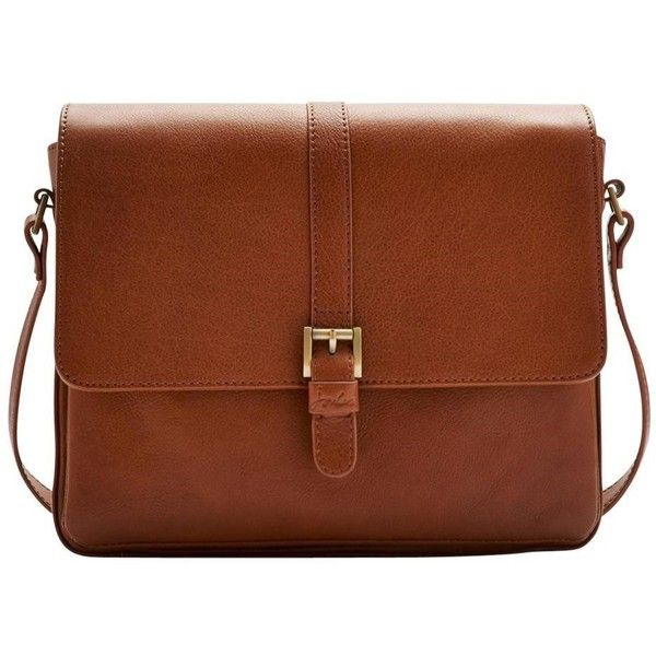 Women's Joules Padstow Leather Cross Body Bag - Dark Tan found on Polyvore featuring bags, handbags, shoulder bags, tan leather purse, brown crossbody, crossbody purse, leather purse and brown leather shoulder bag