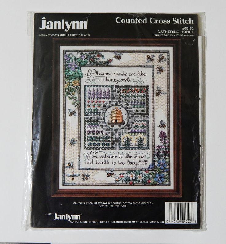 Janlynn Counted Cross Stitch Kit Sampler