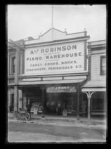Alf Robinson Ltd Piano Warehouse. Fancy Goods. Books. Stationery. Periodicals etc. - Nelson Provincial Museum