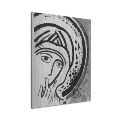 Icono 'Virgen del Silencio' (Aluminio)