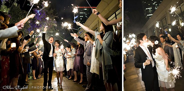 Cafe Pinot | Los Angeles Wedding by Chelsea Elizabeth Photography Sparkler exit