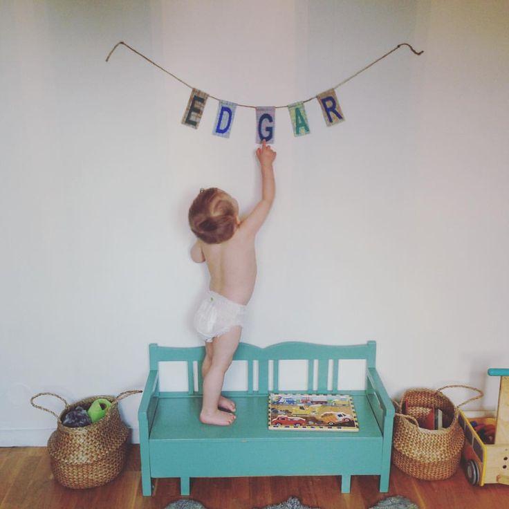 Instagram-foto av Katarina • den 8 mars 2016 kl. 16:27  #kidsroom #kidsfurniture #barnrum #namn #name #letters