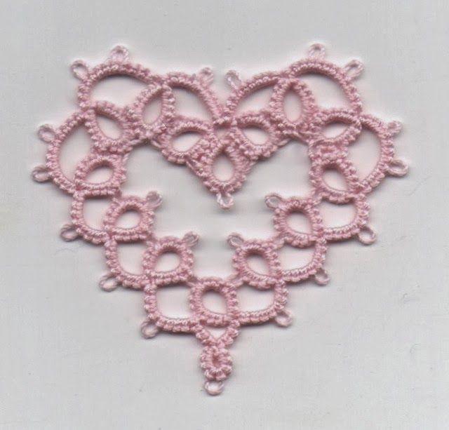 Edda Guastalla's Heart, tatted by Frivole with minor modifications