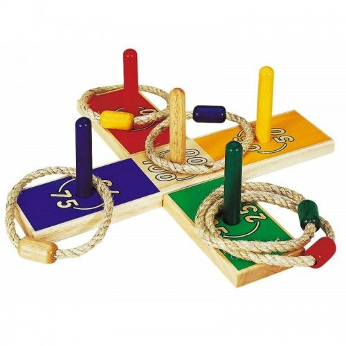 A great fun family game that can be played indoors or outdoors. Toss the rings and land them on the scoring pegs to see who can achieve the highest score.