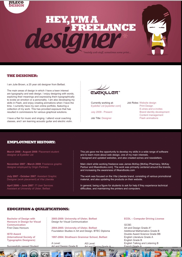 52 best visual cvu0027s images on Pinterest Creative resume - freelance designer resume