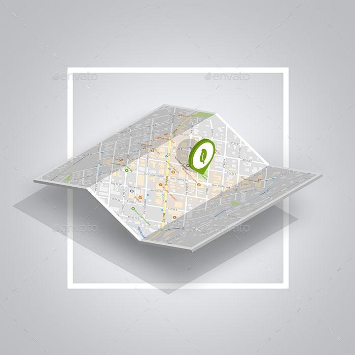 4 Simple Isometric Map Mockups Isometric Map Isometric Map