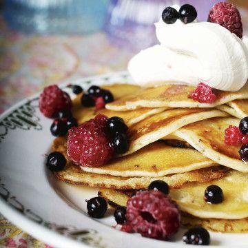 Amerikanska pannkakor, ägg och mjölkfria